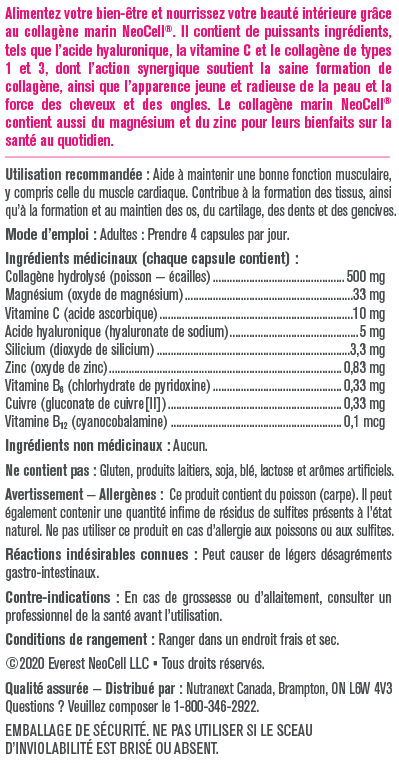Nutritional Panel FRE